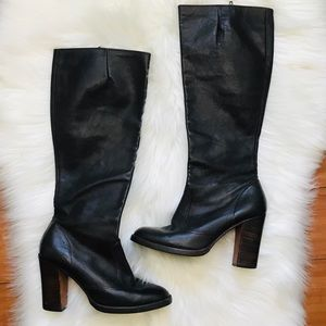 Galliano Vintage Leather Tall Heeled Boots Size 5